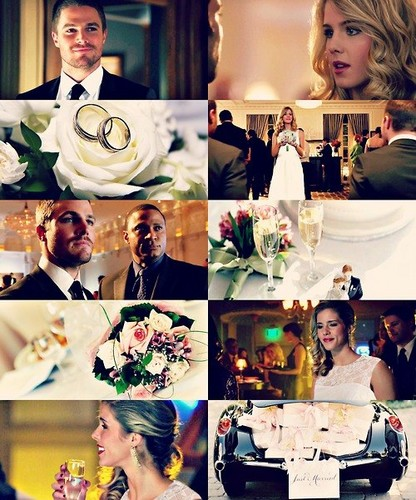 Oliver & Felicity kertas dinding with a bouquet titled Olicity AU (wedding)