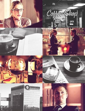 Olicity AU (coffee shop)