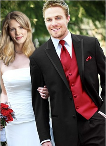 Oliver & Felicity Hintergrund with a business suit, a suit, and a two piece titled Olicity AU (wedding)