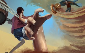 *Luffy v/s Crocodile*