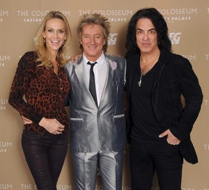 Paul, Erin and Rod Stewart ~November 23, 2013
