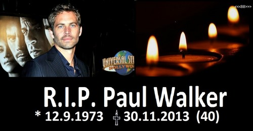 Paul Walker wallpaper containing a candle called R.I.P. Paul