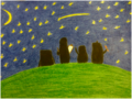 Penguins star gazing - penguins-of-madagascar fan art