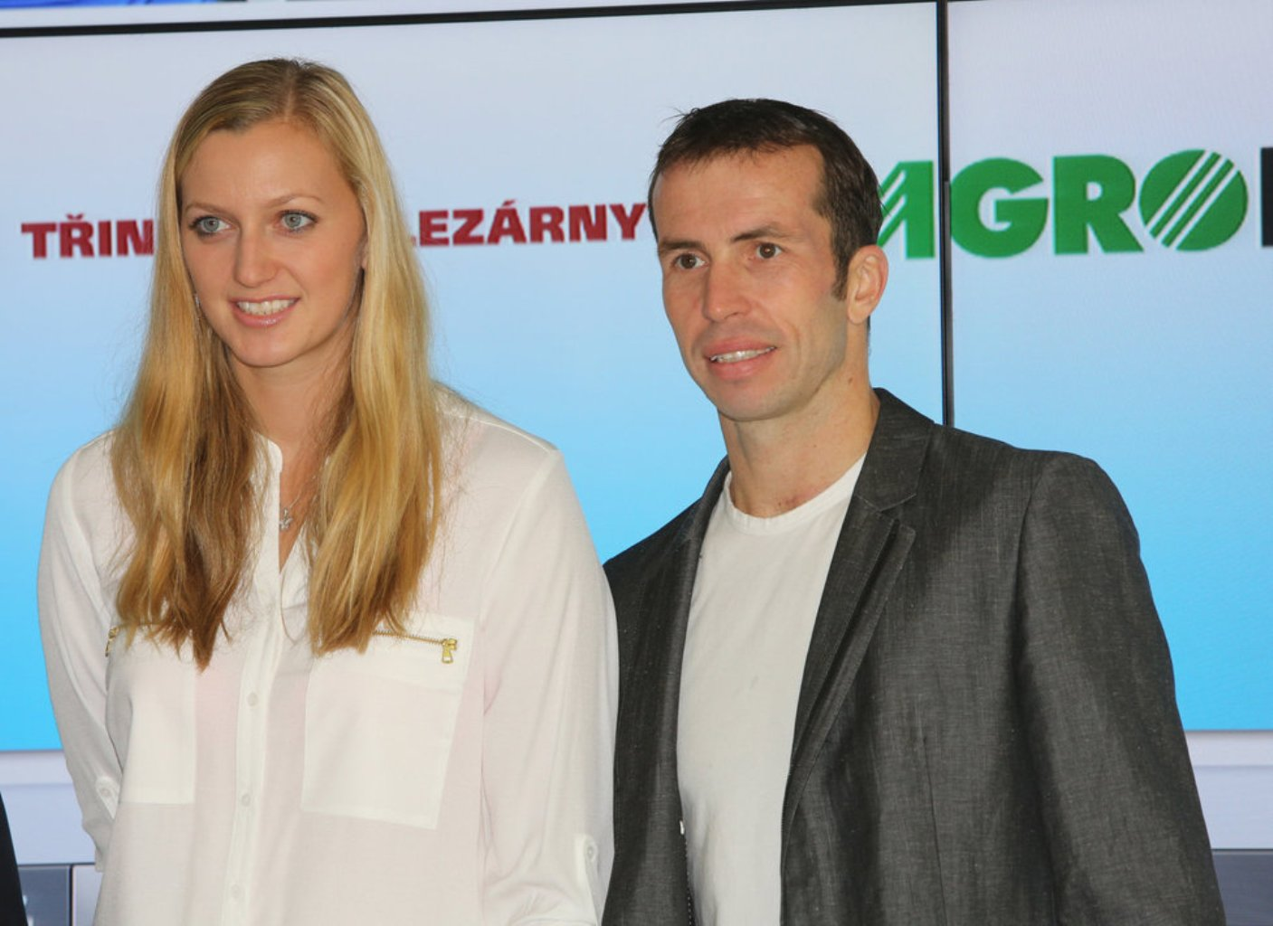 Petra Kvitova and Radek Stepanek 2013..