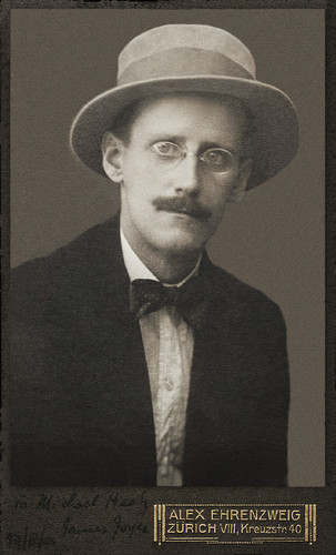 Poets & Writers wallpaper with a business suit entitled James Joyce