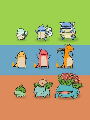 Doodle evolutions of Pokemon