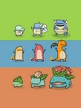 Doodle evolutions of Pokemon  - pokemon photo