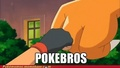 Ash and Charizard's fist bump - pokemon photo