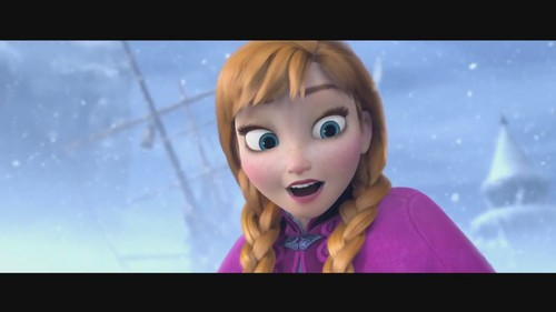 Princess Anna wallpaper with a televisão receiver, a high definition television, and a portrait called Frozen - Uma Aventura Congelante música video screencaps