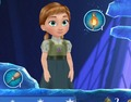 Little Anna from Frozen Free Fall app