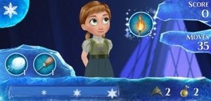 Little Anna from La Reine des Neiges Free Fall app