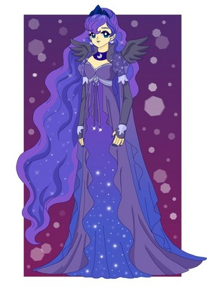 Princess Luna in a robe