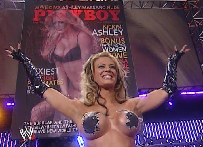 Ashley Massaro in playboy bunny pasties