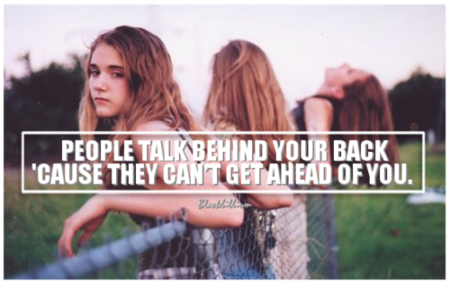 Quotes wallpaper with a portrait titled People Talk