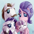 Rarity and her Family - rarity-the-unicorn photo