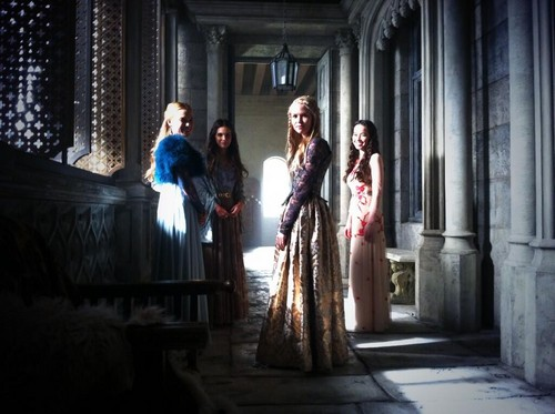 Reign [TV Show] wallpaper with a strada, via titled Reign Cast - Behind The Scenes