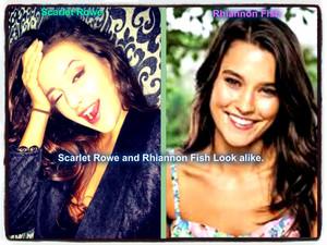 Rhiannon vis and Scarlet Rowe