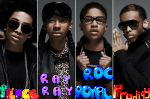 黑少正太组合 壁纸 probably with sunglasses and a portrait called Roc Royal,Princeton,RayRay,Prodigy