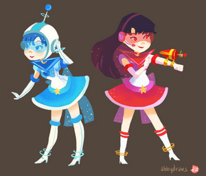 Retro Inspired Sailor Scouts sa pamamagitan ng abbydraws
