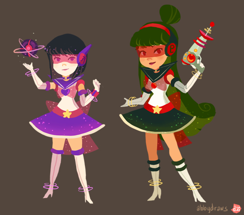Retro Inspired Sailor Scouts by abbydraws
