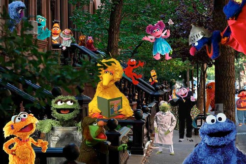 Sesame Street wallpaper possibly containing a bouquet entitled Sesame street tribute 2