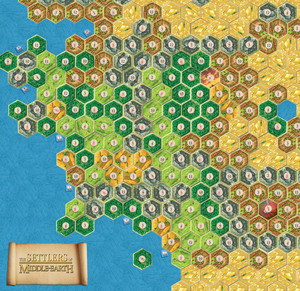 Settlers of Catan Middle Earth map