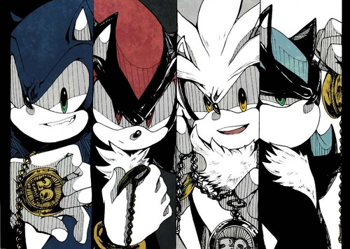 Shadow The Hedgehog wallpaper probably with anime titled Sonic Boys