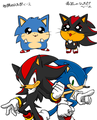 Chibi Sonic and Shadow - shadow-the-hedgehog photo