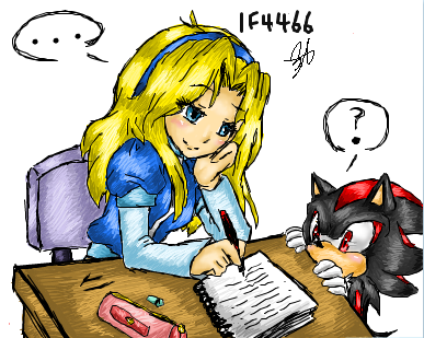 Shadow The Hedgehog kertas dinding with Anime titled What are anda doing Maria