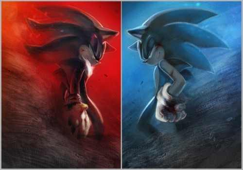 Shadow The Hedgehog wallpaper entitled Sonic Vs Shadow