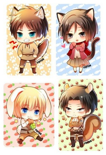 Shingeki no Kyojin (Attack on titan) wallpaper probably with a slot called Kawaii