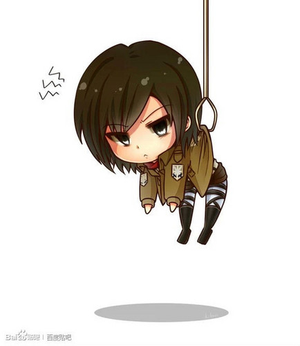 Shingeki no Kyojin (Attack on titan) wallpaper titled Chibi Mikasa