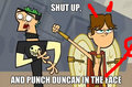 Shut up and punch Duncan in the face - total-drama-island fan art