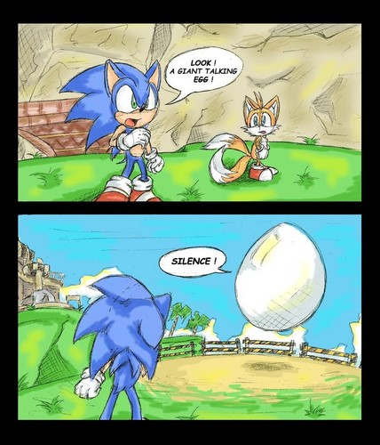 Sonic the Hedgehog wallpaper containing anime called .:Giant Talking Egg:.