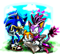 Sonic, Blaze, and Cream - sonic-the-hedgehog fan art