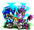 Sonic, Blaze, and Cream
