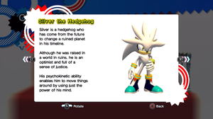 Silver's profile in Sonic Generations