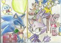 Sonic and Blaze Christmas - sonic-the-hedgehog fan art