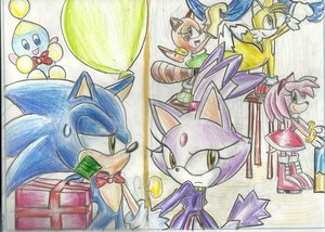 Sonic and Blaze Weihnachten