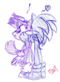 Kiss in White Space - sonic-the-hedgehog fan art
