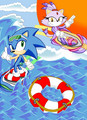 Surfing in the Sol Dimension - sonic-the-hedgehog fan art