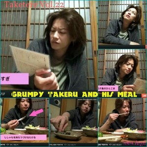 Grumpy Takeru and his meal