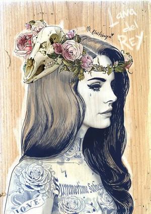 Lana Del Rey Inked
