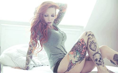 Tattoos wallpaper possibly containing tights titled inked Chick