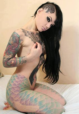 Tattoos wallpaper containing skin titled incked girls