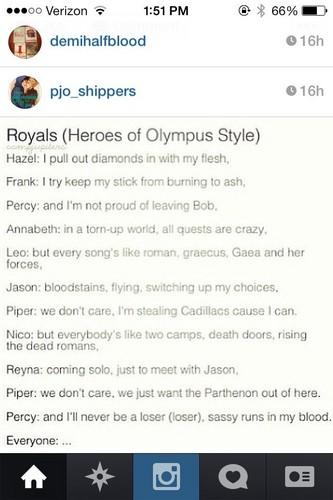 The Heroes of Olympus achtergrond called WE CAN NEVER BE ROYALS!...
