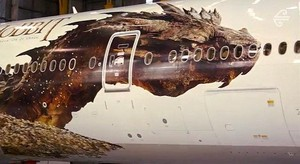 Full Look of Smaug in Air New Zealand