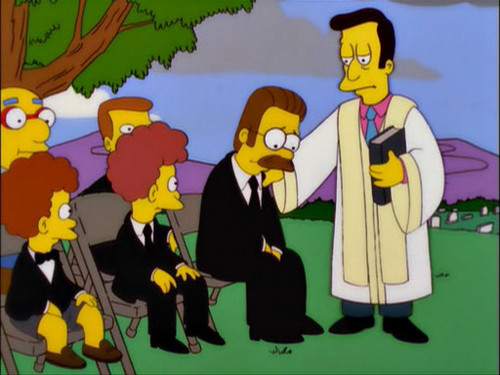 辛普森一家 壁纸 with 日本动漫 entitled The Funeral for Edna Krabappel