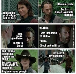 Rick avoiding Daryl