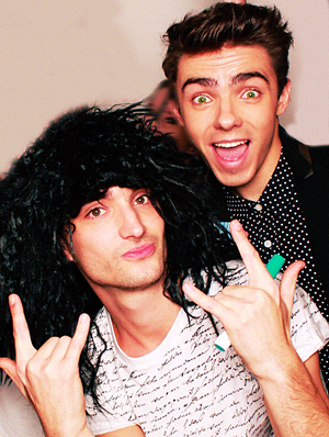 Nathan Sykes and Tom Parker